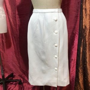 Vintage button up white skirt